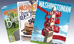 "The Washingtonian: One- or Two-Year Print Subscription to ""The Washingtonian"" (Up to 53% Off)"