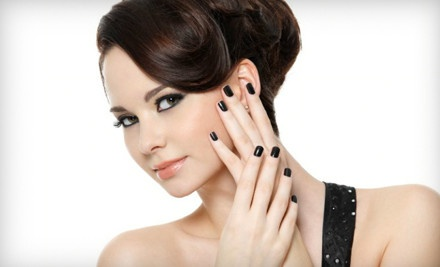 Cut with Optional Color and Manicure or Highlights and Manicure from Natalie McClure at Modish Salon and Spa (Half Off)