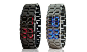Men's Faceless Digital Watches in Stainless Steel: Men's Faceless Digital Watches in Stainless Steel