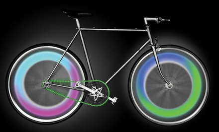 2-Pack Multicolor LED Bike-Wheel Lights