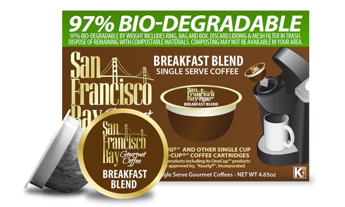 San Francisco Bay Coffee OneCup Breakfast Blend : Three 12-Count Packs of OneCup Single Serve Breakfast Blend Coffee from San Francisco Bay Coffee