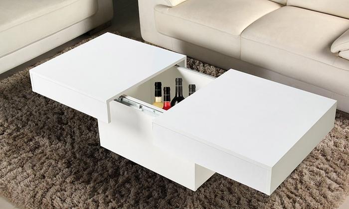 tavolino con contenitore | groupon goods - Tavolino Soggiorno Apribile