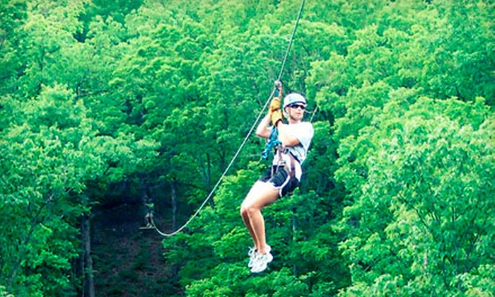 Eco Zipline Tours - Hermann: $35 for a Zipline Tour with Frequent Flyer Card from Eco Zipline Tours in New Florence ($70 Value)