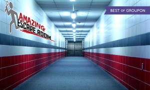 Amazing Escape Room: Escape-Room Visit for Two, Four, Six, or Eight at Amazing Escape Room (Up to $52 Off)