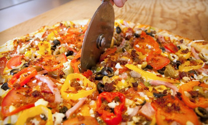 Okanagan Pizza - Highway 97: $22 for a Pizza Meal with Salads and a 2-Litre Pop for Two at Okanagan Pizza ($44.22 Value)