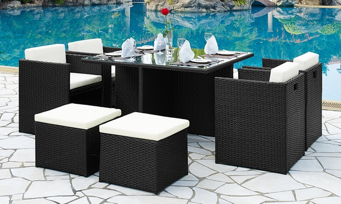 grs gadgets ltd_uk nine piece garden cube dining set for 45998 with free