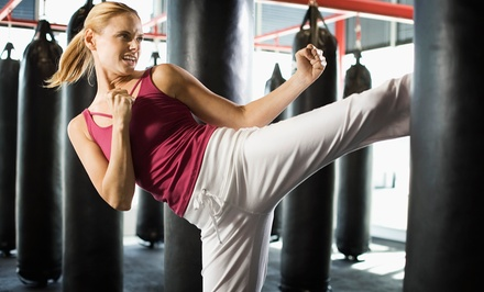 Four or Eight Weeks of Fitness Kickboxing Classes at Bergeron Karate Center (Up to 55% Off)