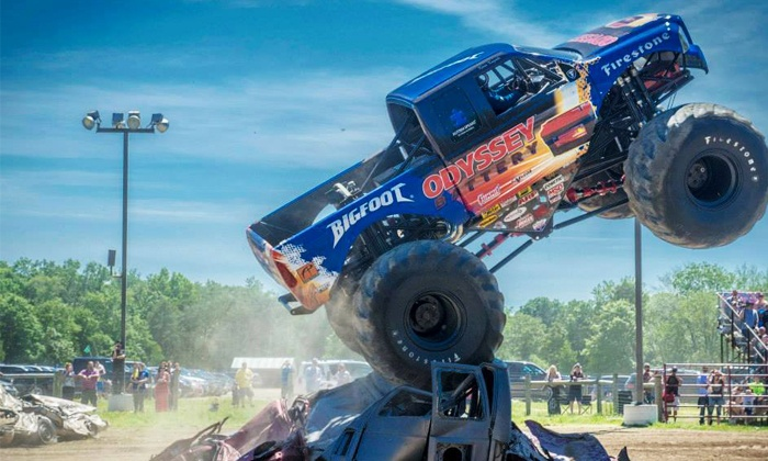 Monster Truck and Thrill Show - New Jersey Motorsports Park: One Ticket to a Monster Truck and Thrill Show at New Jersey Motorsports Park on Sunday, August 2 (Up to 56% Off)