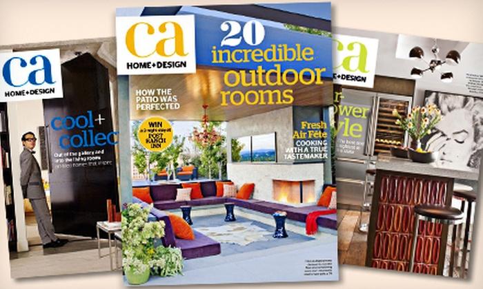"""California Home + Design"" - Santa Cruz / Monterey: $7 for a One-Year Subscription to ""California Home + Design"" Magazine and E-Newsletter ($15 Value)"