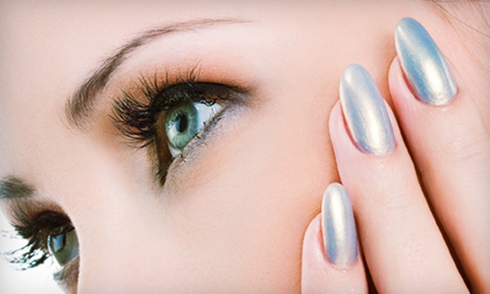 Scissors Hair Studio - Richmond: Mani-Pedi with Optional Eyebrow Wax at Scissors Hair Studio (Up to 54% Off)