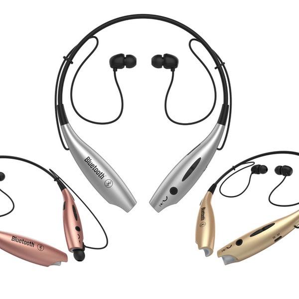 87961764cfa Replay Audio Metallic Wireless Neckband Headset | Groupon