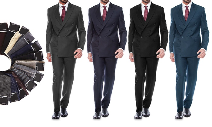 Slim-Fit Suits with 3 Free Socks | Groupon Goods