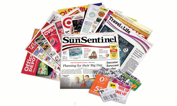 """Sun Sentinel: 52- or 104-Week Sunday Subscription to the """"Sun Sentinel"""" (Up to 94% Off)"""