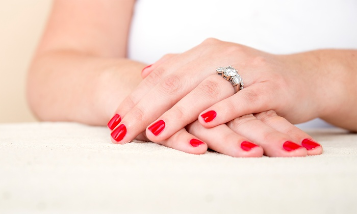 Xanadu Cre8ive Hair & Nail Design - Gilbert: Gel Manicure or Acrylic Nails with Gel Overlay from Xanadu Cre8ive Hair & Nail Design (Up to 33% Off)