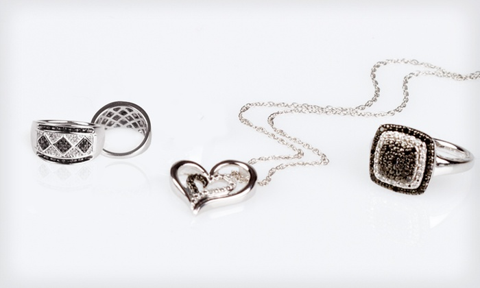 Black- and White-Diamond Jewellery: Black- and White-Diamond Jewellery (Up to 88% Off). Five Options Available.