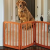 Solid Wood Adjustable Arched Pet Gate