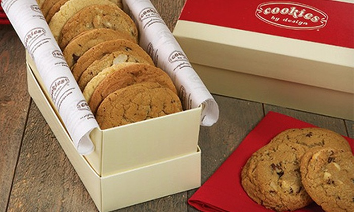 Cookies By Design - Secret Cove: 13-Inch Chocolate-Chip Cookie Cake or a Dozen Gourmet Cookies at Cookies By Design (Up to 55% Off)