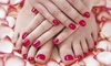 Stylinchic - Village: Shellac or Regular Mani-Pedis at Stylinchic (Up to 58% Off). Four Options Available.