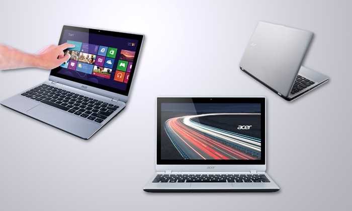 """Acer 11.6"""" Touchscreen Notebook: $339.99 for an 11.6"""" Acer Touchscreen Notebook V5-122P-0643 ( Refurbished) ($449 List Price). Free Shipping and Returns."""