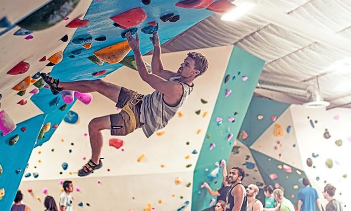 Grotto Climbing & Yoga - Grantville: Two Weeks or One Month of Rock Climbing with Intro Class at Grotto Climbing & Yoga (Up to 79% Off)