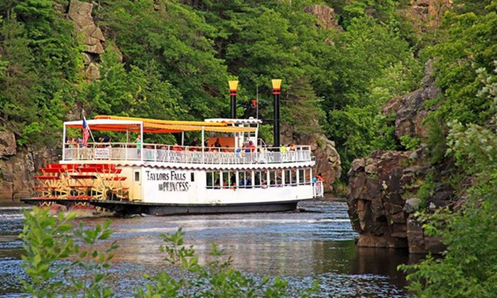 Scenic Boat Tours at Taylors Falls - Taylors Falls: 80-Minute Scenic Boat Tour for Two, Four, or Six from Taylors Falls Scenic Boat Tours (48% Off)