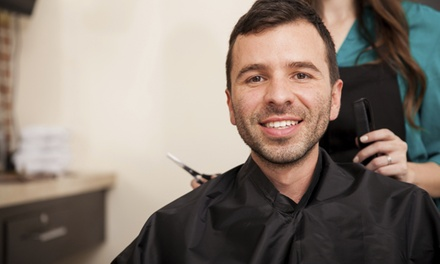 A Men's Haircut with Shampoo and Style from The Spot Specializing in Men's Cuts (60% Off)