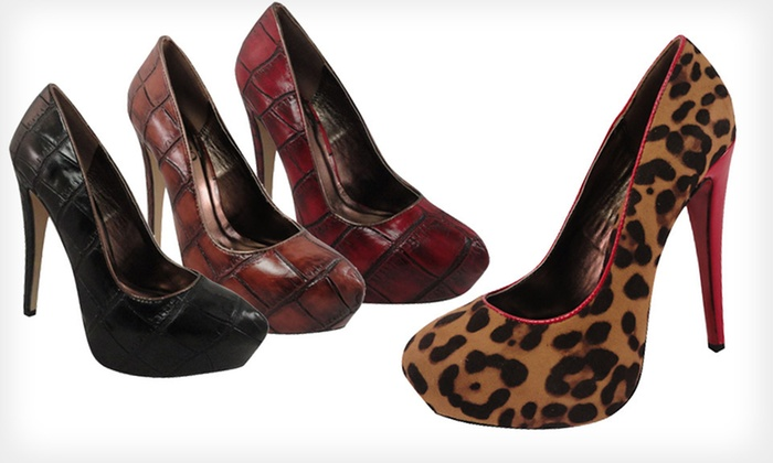 Bucco High-Heeled Pumps: $25 for Bucco High-Heeled Pumps ($80 List Price). Multiple Sizes, Styles, and Colors Available. Free Shipping.