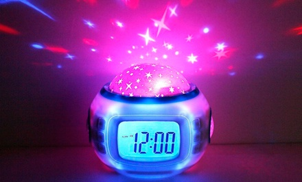 Musical Star-Filled Sky Multi-Function Clock