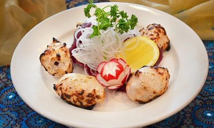 $39.99 for $60 Worth of Indian Food, or Indian Dinner for 2 or 4 at Royal Palace (Up to 46% Off). Five Options.