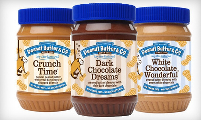 Peanut Butter & Co. - Greenwich Village: $12 for Four Jars of Peanut Butter at Peanut Butter & Co. (Up to $24 Value)