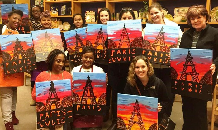 Color Me Mine- Kelowna - Kelowna: Paint-Your-Own Pottery for Two or Canvas Painting Party for Two at Color Me Mine -Kelowna (Up to 44% Off)