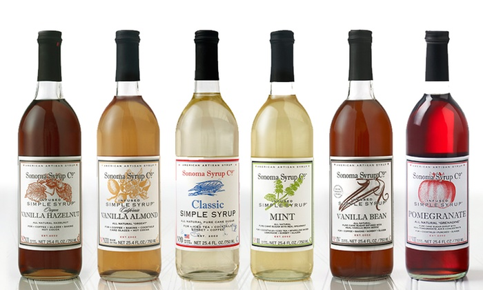 Sonoma Syrup Co. Flavored Simple Syrups: Sonoma Syrup Co. 6-Pack of Flavored Simple Syrups