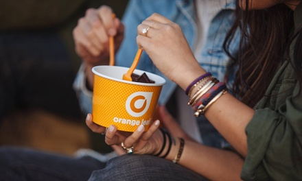 Frozen Yogurt at Orange Leaf Frozen Yogurt (40% Off). Four Options Available.
