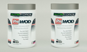 2-pack Of 28-serving Containers Of Prewod Pre-workout Performance Booster Supplements