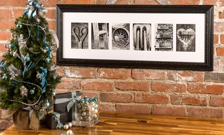 $59 for $135 Worth of Custom Letter Art from Frame the Alphabet