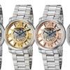 Stührling Original Men's Executive Skeleton Mechanical Bracelet Watch
