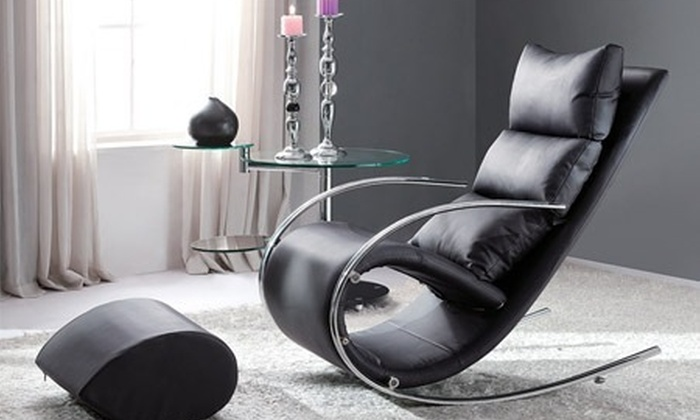 Rocking Chair Et Son Repose Pieds Groupon Shopping