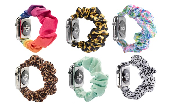 Scrunchie Elastic Wrist Replacement Bracelet For Apple Watch One 12 95 Or Two 19 95