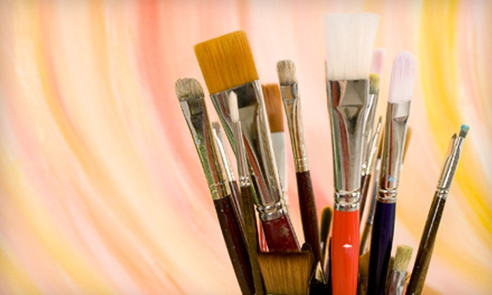 Vintages Art Studio - Vintages Art Studio: Three-Hour BYOB Painting Class for One or Two at Vintages Art Studio (Up to 51% Off)