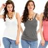 Lyss Loo Women's Everyday Rayon V-Neck Tank
