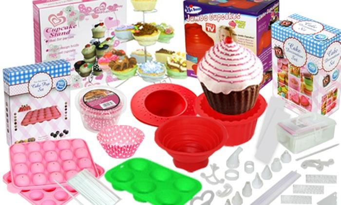 Cake Decorating Kit Groupon : 100-Piece Cupcake Decorating Set Groupon Goods