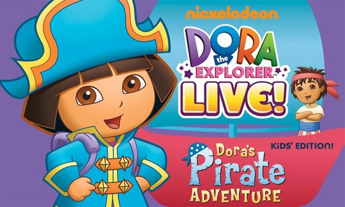"""Dora The Explorer Live: """"Dora's Pirate Adventure"""" - Master Theatre: Dora The Explorer Live: """"Dora's Pirate Adventure"""" at Master Theater on May 4 at Noon or 2 p.m. (Up to 46% Off)"""