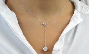 Infinity Y Necklace