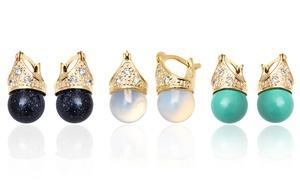 18k Gold–plated Drop Earrings