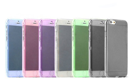 Waloo Clear Full-Body Flip Soft Gel Case for iPhone 6