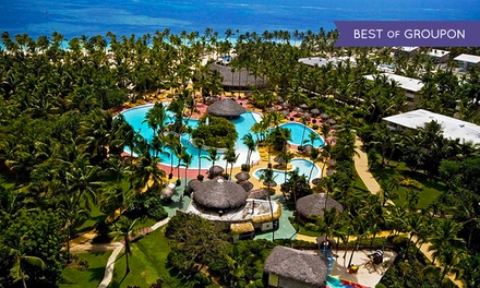 All-Inclusive Catalonia Bavaro Beach Resort Stay in Punta Cana, with Dates into June. Taxes & Fees Added at Purchase.