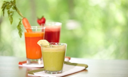 One- or Three-Day Custom Juice Cleanse at Raw Roots Juice Bar & Cafe (34% Off)