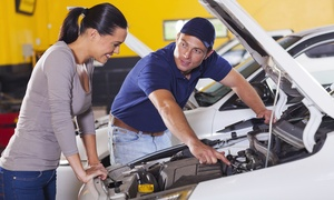 Meineke Car Care Center: Oil Change, Wheel Alignment or $40 Toward Repairs from Meineke Car Care Center (Up to 62% Off)