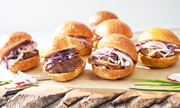 Treeline Catering - Alderwood: Pork, Beef, or Chicken Hot Lunch or Dinner for 6, 9, or 12 from Treeline Catering (57% Off)
