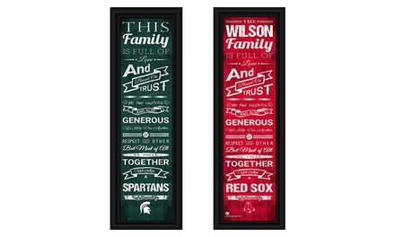 Personalized Family Cheer Print with a Standard or Premium Frame from Prints That Rock (Up to 44% Off)